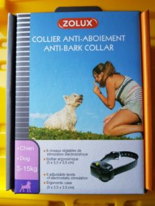 collier anti-aboiements zolux
